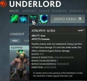 Underlord - Dota 2 - Atrophy Aura