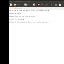 Format USB Memory Stick or Drive in Ubuntu