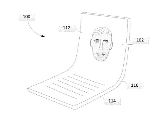 Google filed a folding phone patent application, too