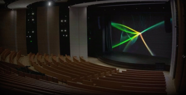 Peek into an empty Steve Jobs Theater before tomorrow's big Apple event