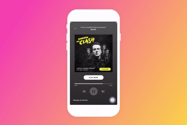Spotify launches voice-enabled ads on mobile devices in a limited U.S. test
