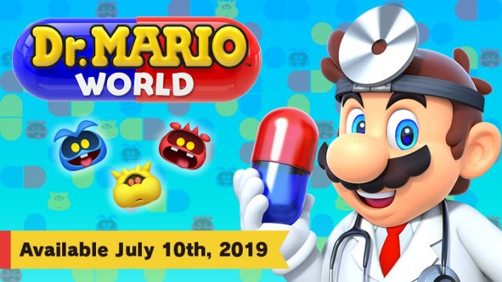 Dr. Mario is in (on iOS and Android) July 10