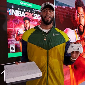 Basketball Superstar Anthony Davis Unveils the Xbox One X NBA 2K20 Special Edition Bundle