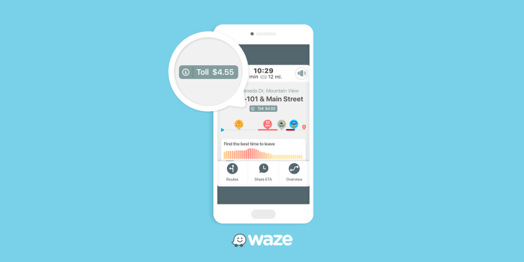 Waze now shows road toll prices along your driving route
