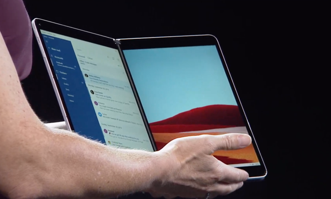 Microsoft introduces Windows 10X for dual-screen devices
