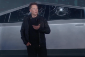 Tesla accidentally busted two windows on the Cybertruck while demonstrating how tough they are