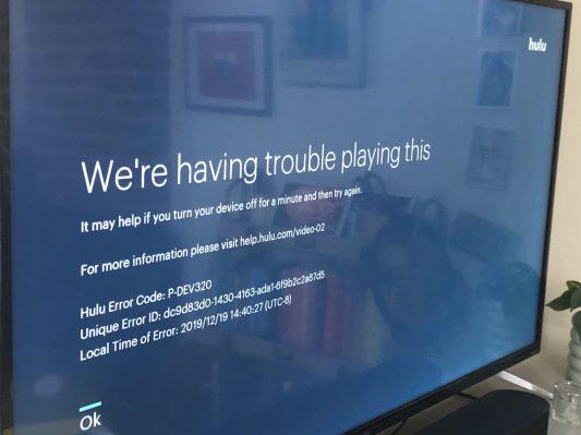 Hulu is down