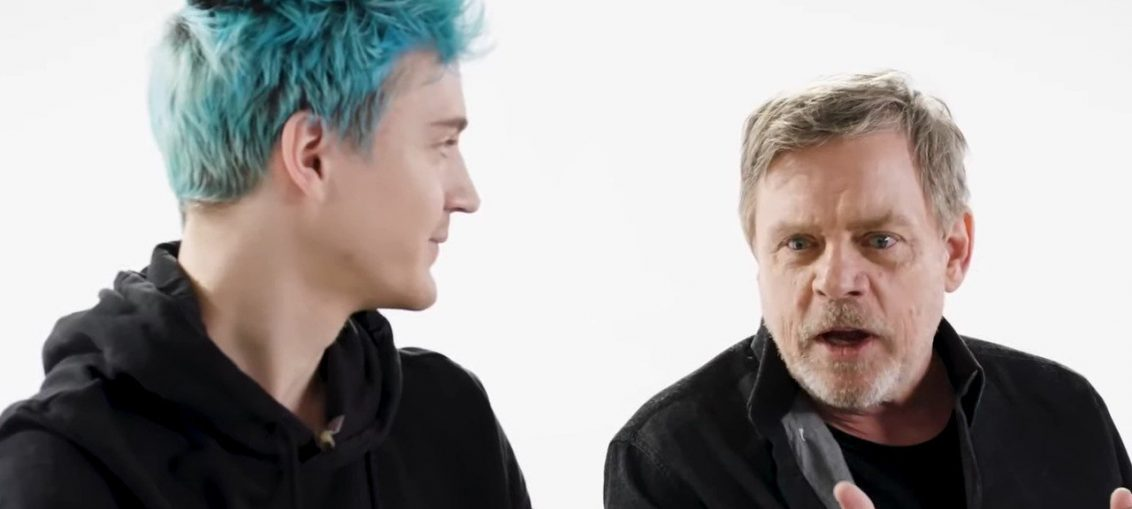 Video: Ninja Teams Up With Star Wars Legend Mark Hamill To Play Some Fortnite