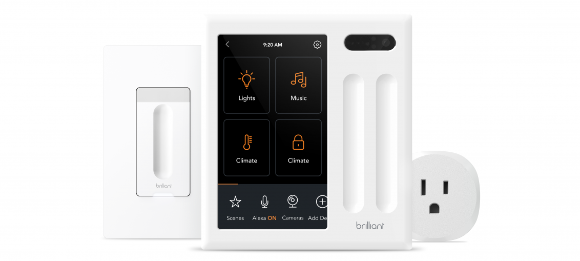 Brilliant adds a dimmer switch and smart plug to its smart home ecosystem