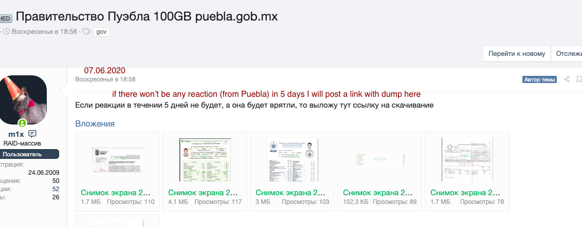 Russian hacker releases at least 14,000 Mexican taxpayer IDs