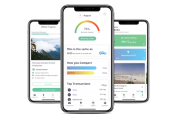 Yayzy app automatically calculates the environmental impact of your spending