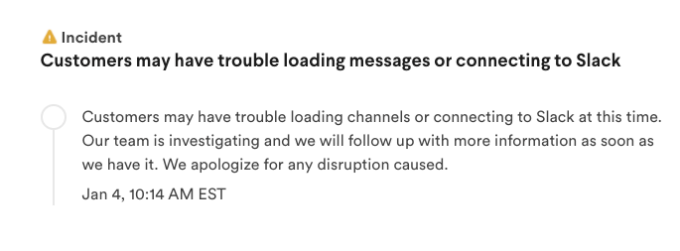 It's not just you, Slack is struggling this morning