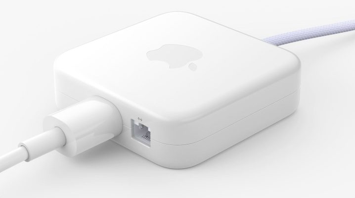 The M1 iMac's power supply sports magnetic connector, Ethernet port
