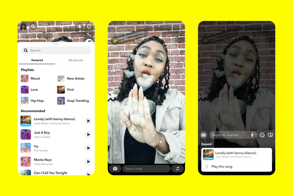 Snap makes a deal with Universal Music Group, adding its catalog to Sounds