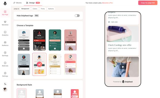 Link-in-bio monetization platform Snipfeed raises a $5.5M seed round