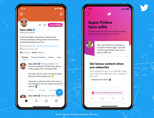 Twitter Super Follows has generated only around $6K+ in its first two weeks