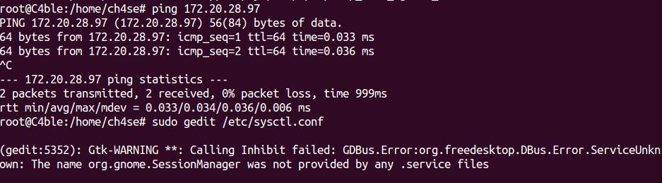 Disable ICMP / Enable ICMP on Ubuntu