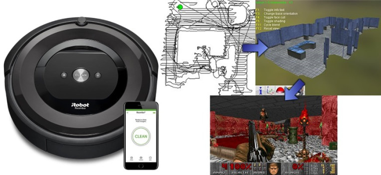Let your new Roomba build a Doom level of your house with DOOMBA