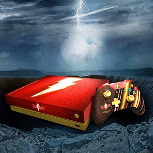 Enter for a Chance to Win a Pair of Custom Xbox One X Consoles inspired by Shazam!