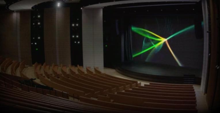 Peek into an empty Steve Jobs Theater before tomorrow's big Apple event