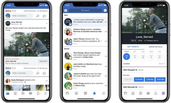 New Facebook ad units can remind you when a movie comes out