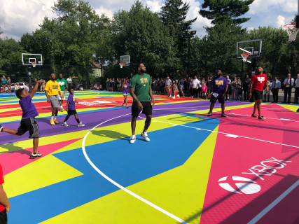 Xbox and 2K Build One-of-a-Kind Basketball Court at I Promise School in Akron