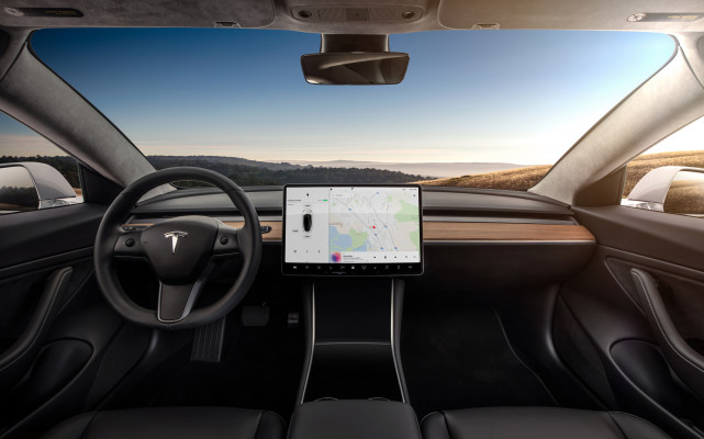 Tesla's Model 3 interior (even the steering wheel) is now 100% leather-free