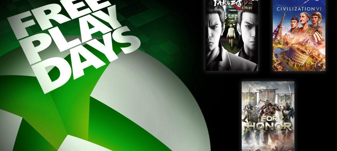 Free Play Days – Yakuza Kiwami, Sid Meier's Civilization VI, and For Honor Standard Edition