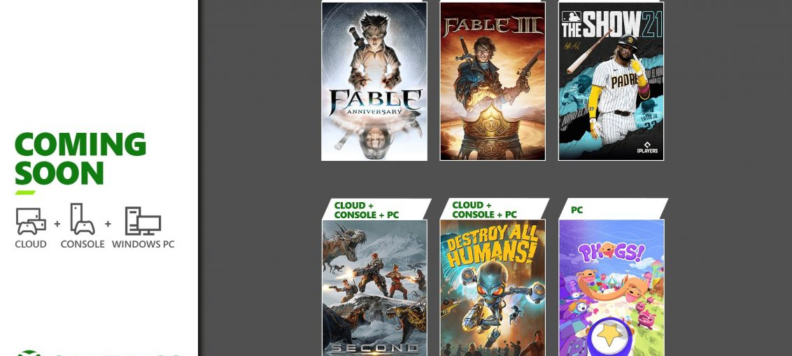 Coming Soon to Xbox Game Pass: Fable Anniversary, MLB The Show 21, and More