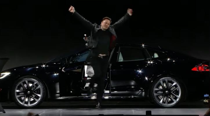 Elon Musk reveals the Tesla Model S Plaid
