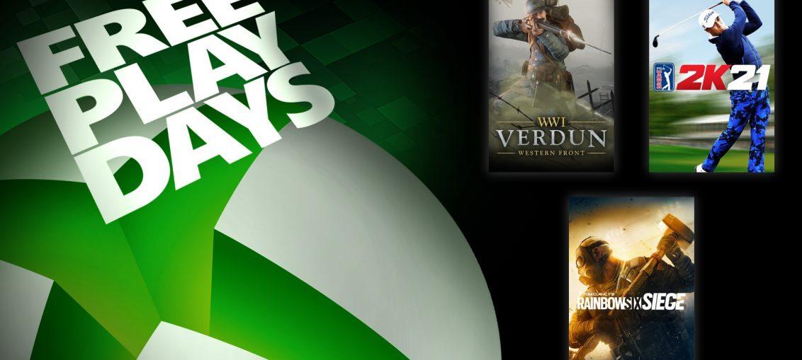 Free Play Days – Tom Clancy's Rainbow Six Siege, Verdun, and PGA Tour 2K21