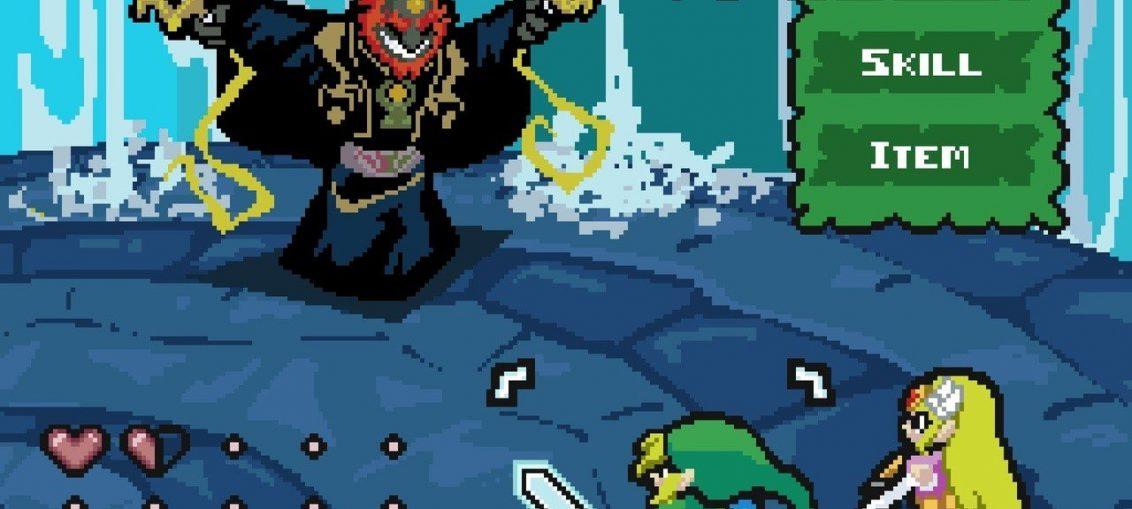 Random: Pixel Artist Reimagines Zelda: Wind Waker As A Turn-Based RPG
