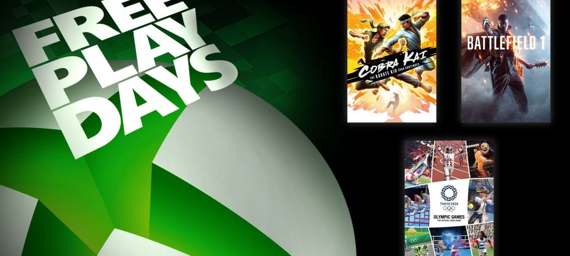 Free Play Days – Cobra Kai: The Karate Kid Saga Continues, Battlefield 1, and Olympic Games Tokyo 2020 – The Official Video Game